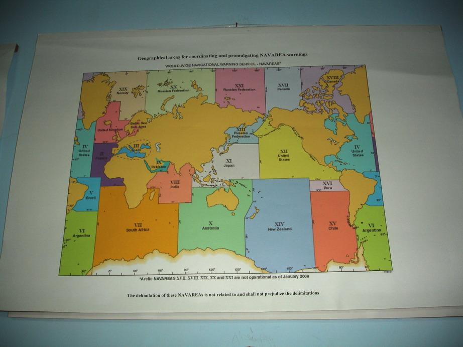 Плакат - Карта районов NAVAREA